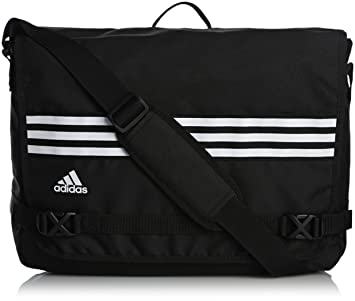 a196f51c17 adidas 3-Stripes Sports Messenger Bag Black  Amazon.co.uk  Sports ...