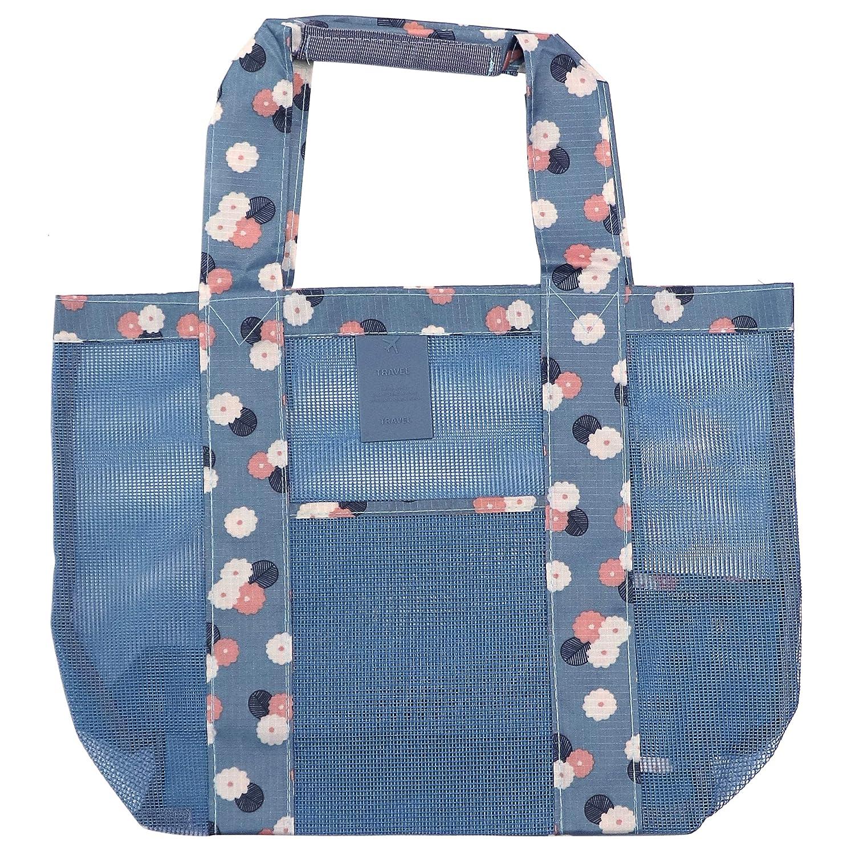 Amazon.com: MISIXILE Bolsa de malla para playa, bolsa de ...