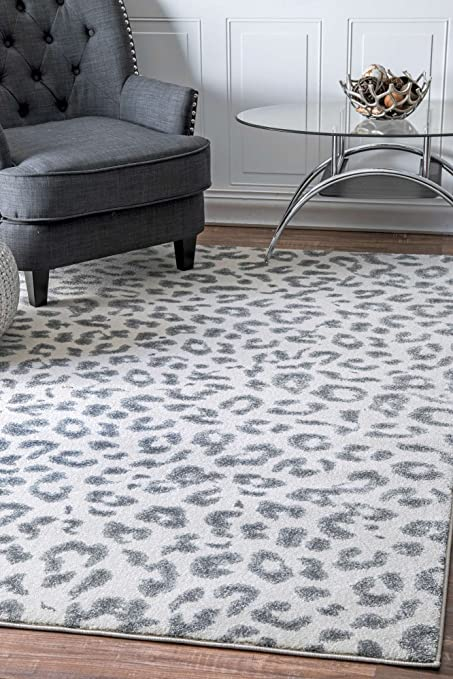 Animal Print Rug Contemporary Area Rugs Leopard Print Runner Rug Off White  Grey Home Carpets (
