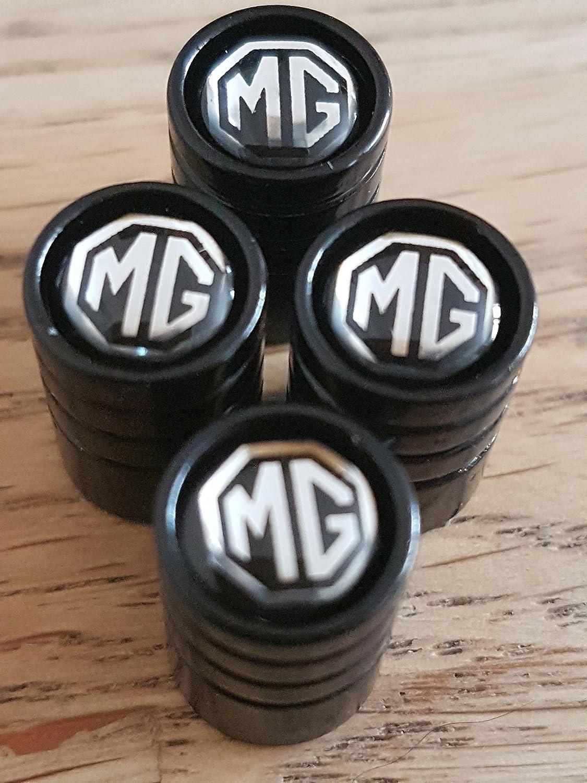 Speed Demons Voiture MG noir de luxe poussi/ère de roue Valve alliage casquettes tous les mod/èles Capuchon de valve