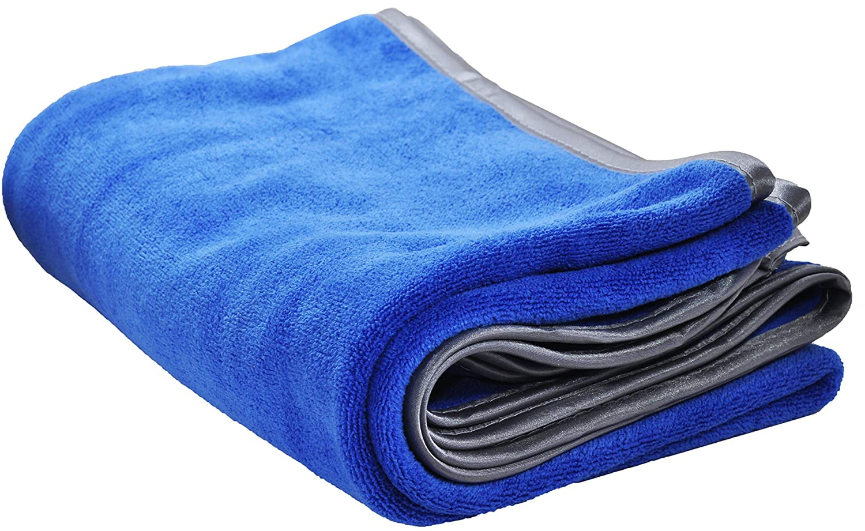 Ultraplushプレミアムマイクロファイバータオルby Detailer 365 | 400 gsmスレッド数の超スムーズ研磨し、乾燥|スーパー吸収性withシルク裏地Border カラー: ブルー B073DJMJYR Blue 24\ 1 Pack