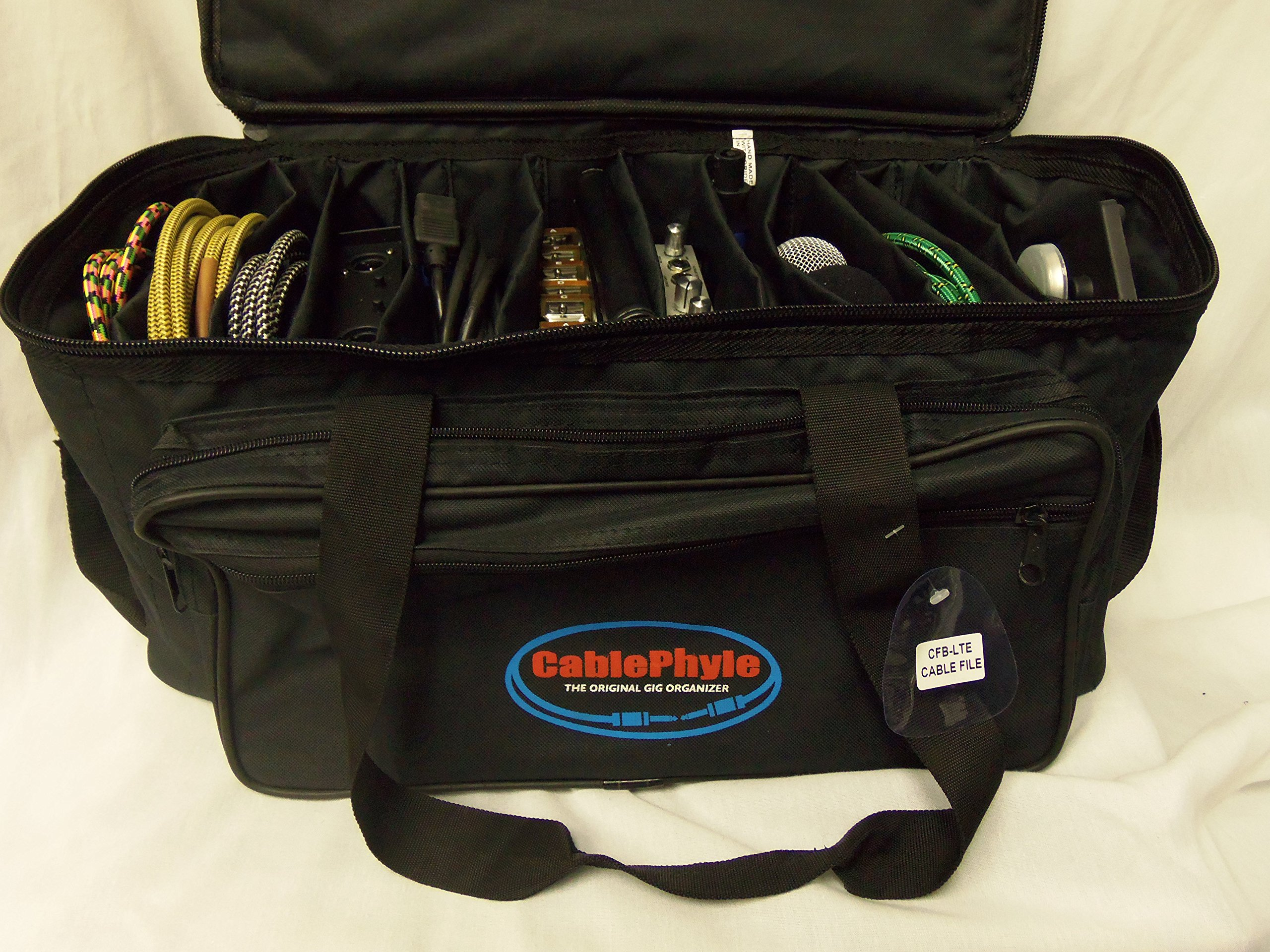 Cable File Bag CFB-LTE - Smaller Lighter Model Cable & Accessories Organizer Gig Bag / Soft Case - CablePhyle by CablePhyle