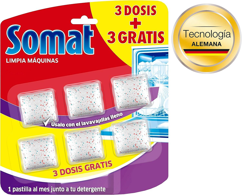 Somat Limpia Máquinas Lavavajillas - 3 Dosis + 3 Gratis: Amazon.es ...