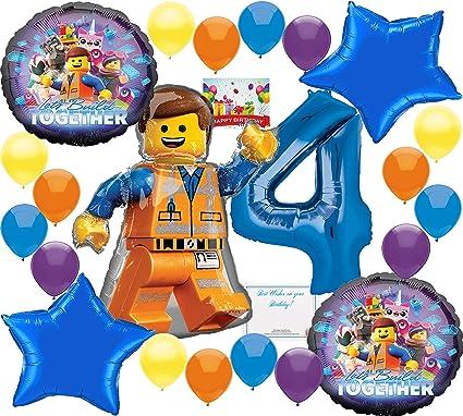Amazon.com: Lego Movie 2 Deluxe Globo Decoracion Bundle para ...