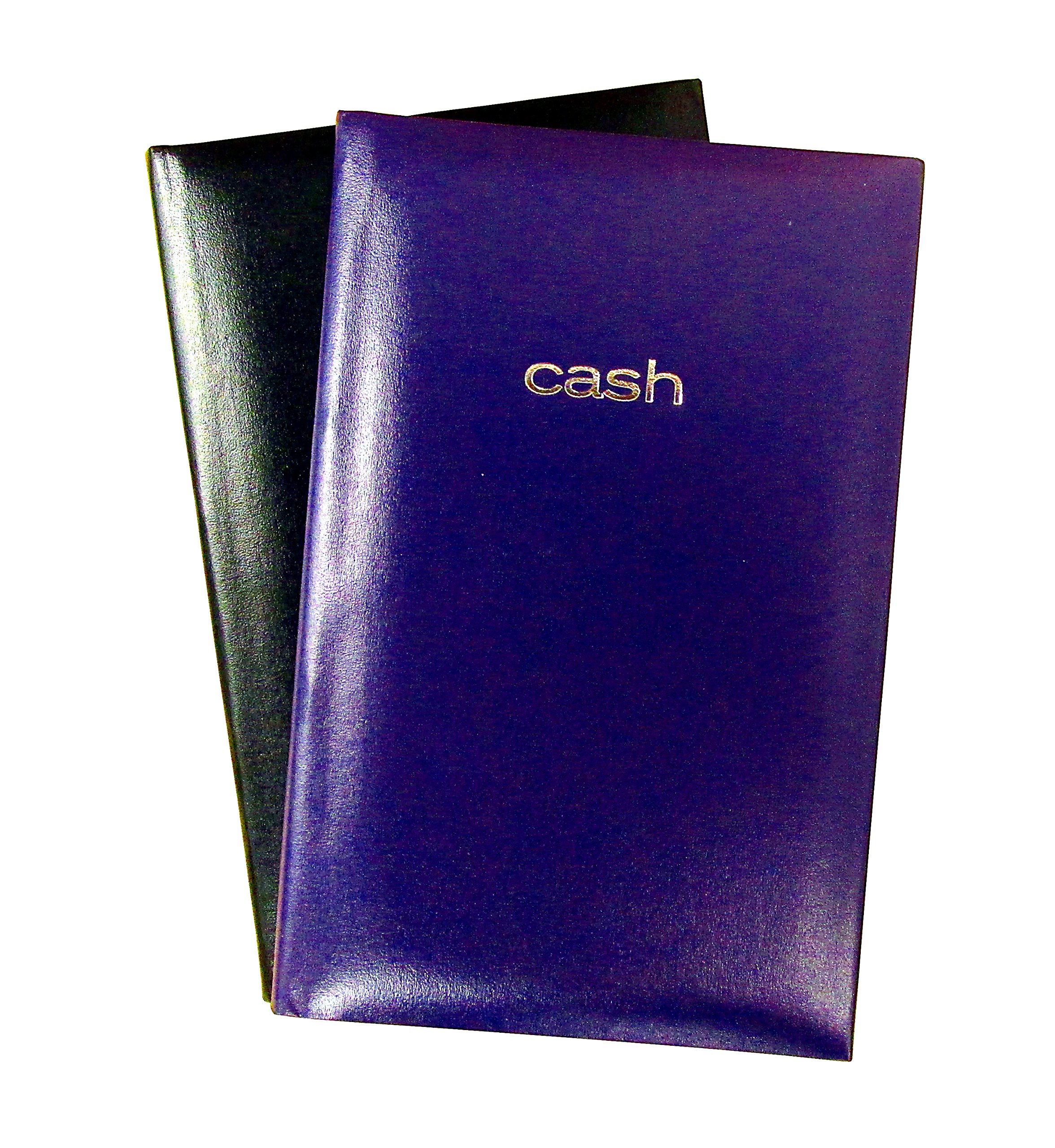 Set of 2 Cash Books, 7.9'' x 5'' Inches, 144 Pages per Book - Hardbound Cover (Colors will Vary)
