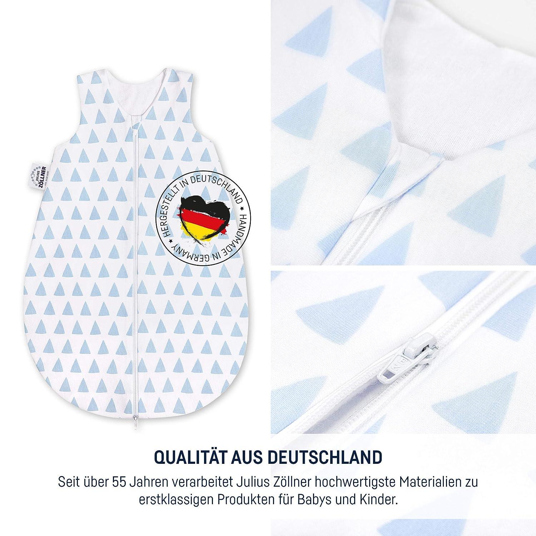 Julius Z/öllner 9052167253 Jersey Sommerschlafsack,Blau Triangel blue ,Gr.86