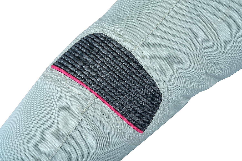 EU 46 3XL Jet Motorradjacke Damen Mit Protektoren Textil Winddicht Sommer Winter ROCHELLE , Grau//Pink