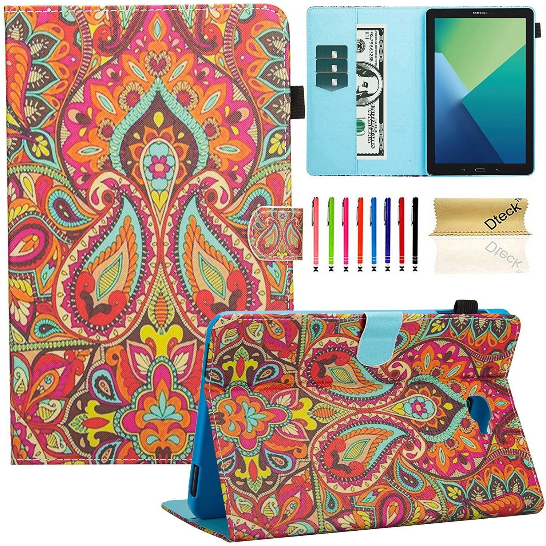 Dteck Samsung Galaxy Tab A 10.1タブレットケース、sm-t585 / t580ケース、マルチ表示スタンドスマートケースカバー自動スリープ/スリープ解除機能付きタブ10.1インチのNo Sペンバージョンタブレット、 DK-2017 B06XKW8TN4 #00 India Flower #00 India Flower