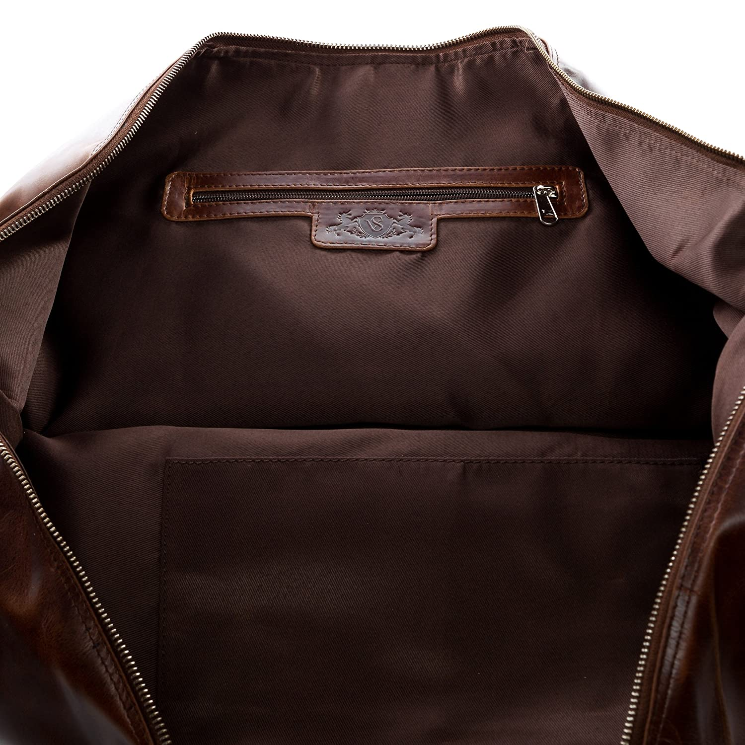 SID /& VAIN Sac Voyage Cuir fourre-Tout Besace Week-End XL Grand Sac Homme Sport Bagages Cabine /à Main Marron