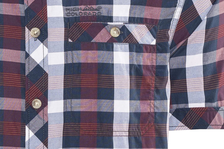 High Colorado Zell 2 Hemd Herren Mood Indigo-rot 2018 Kurzarmshirt