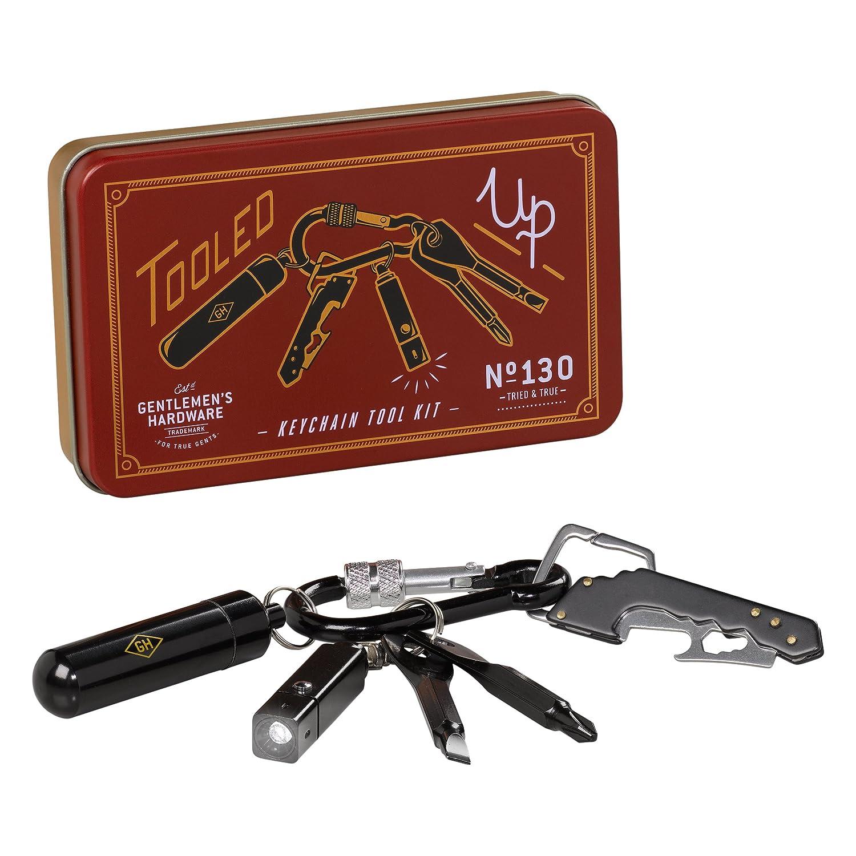 Gentlemen's Hardware Key Chain Mini Tool Kit - Brown Wild and Wolf GEN130