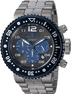 Invicta Mens Pro Diver Quartz Watch with Stainless-Steel Strap, Silver, 29.3 (