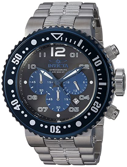 Amazon.com: Invicta Mens Pro Diver Quartz Watch with Stainless-Steel Strap, Silver, 29.3 (Model: 25074: Watches