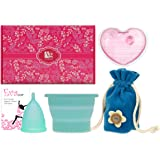 Anigan EvaCup Menstrual Cup Gift Set, Includes: EvaCup, Sterilizing Cup and more (Large, Blizzard Blue)