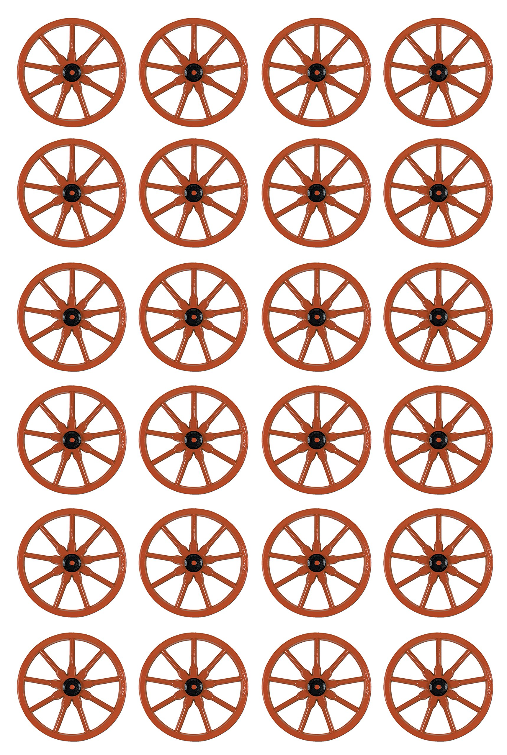 Beistle 55570 24-Pack Plastic Wagon Wheel, 23-Inch