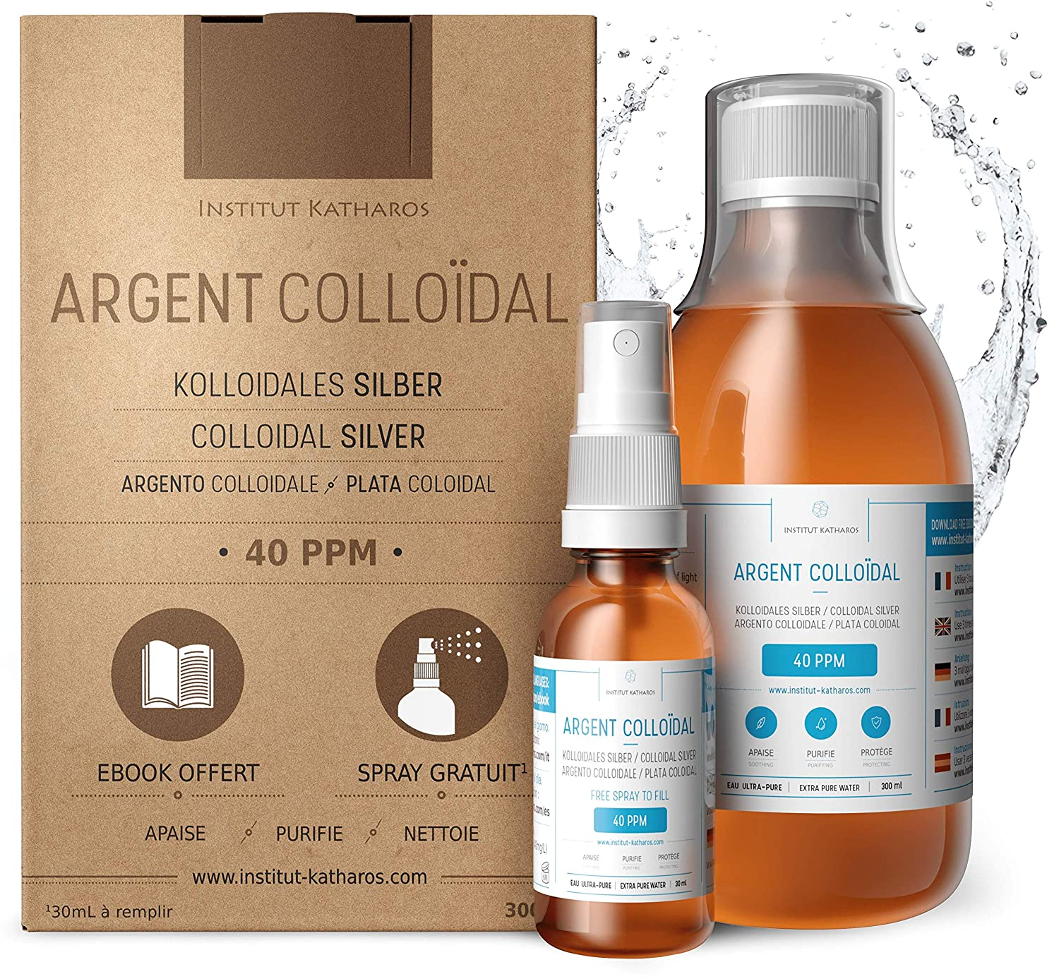 Argento Colloidale 100% Puro 40 PPM 300mL