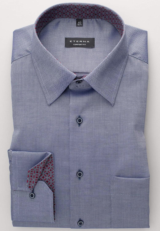 Eterna Long Sleeve Shirt Comfort Fit Natt/é Structured