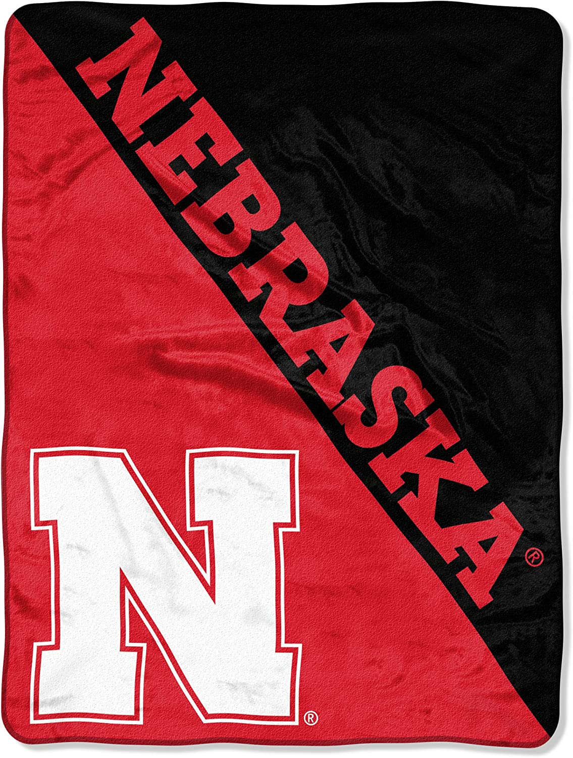 """Officially Licensed NCAA """"Halftone"""" Micro Raschel Throw Blanket, 46"""" x 60"""", Multi Color"""