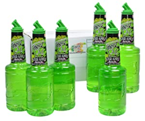 Finest Call Premium Sour Apple Martini Drink Mix, 1 Liter Bottle (33.8 Fl Oz), Pack of 6