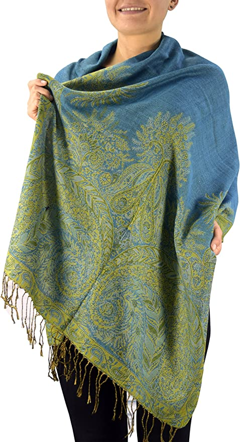 Vintage Antique Persian Carpet Shawl Wrap Scarf Oversized Long Blanket Scarf Cozy Warm for Winter Fall 72x72 inches