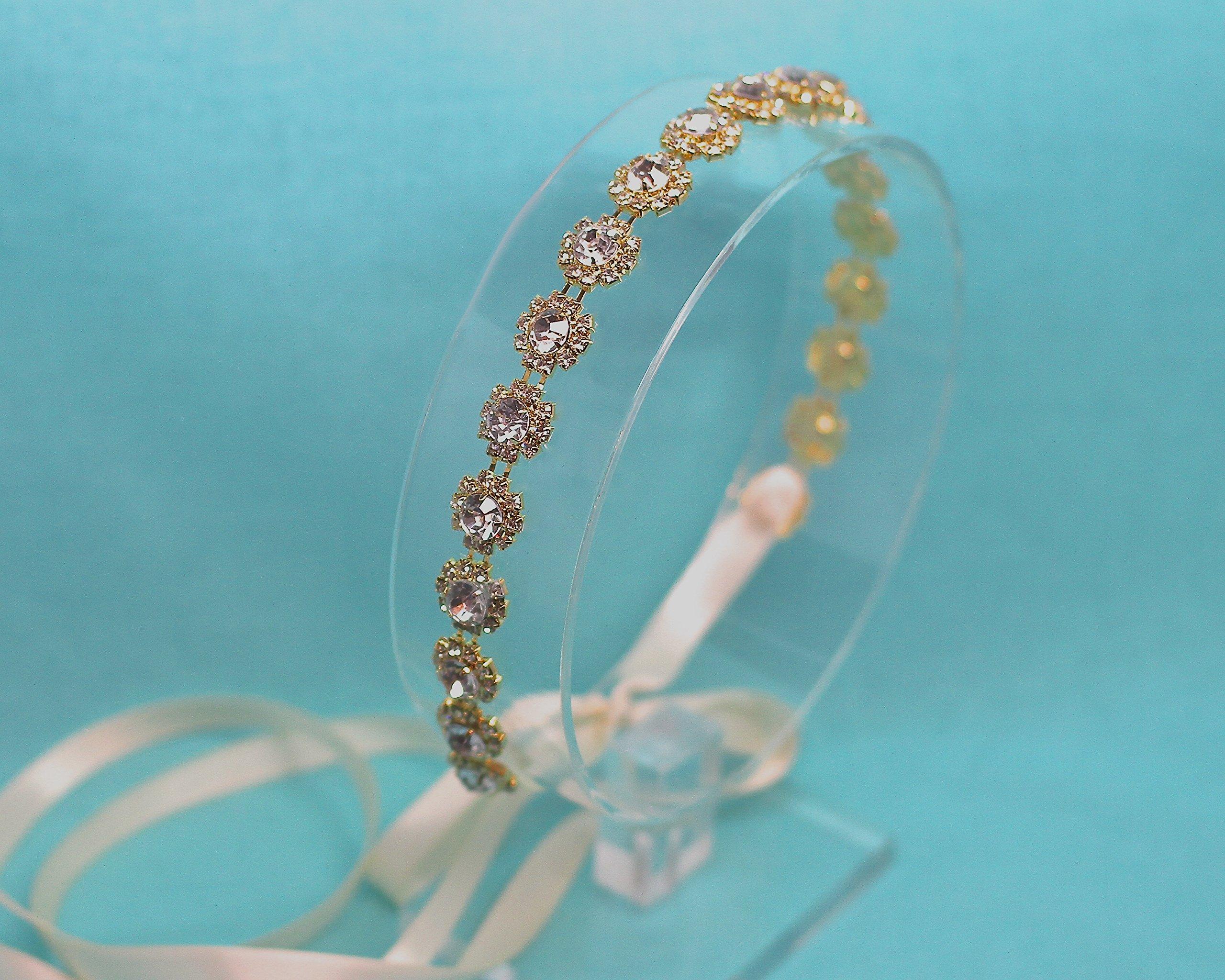 Belle Fleur Gold Tone Wedding Headband