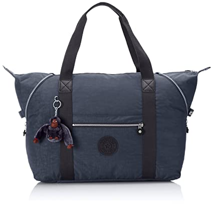 45ba47373c Kipling Art M, Medium Travel Tote, 58 cm, 26 liters, Blue (Alaskan Blue):  Amazon.co.uk: Luggage