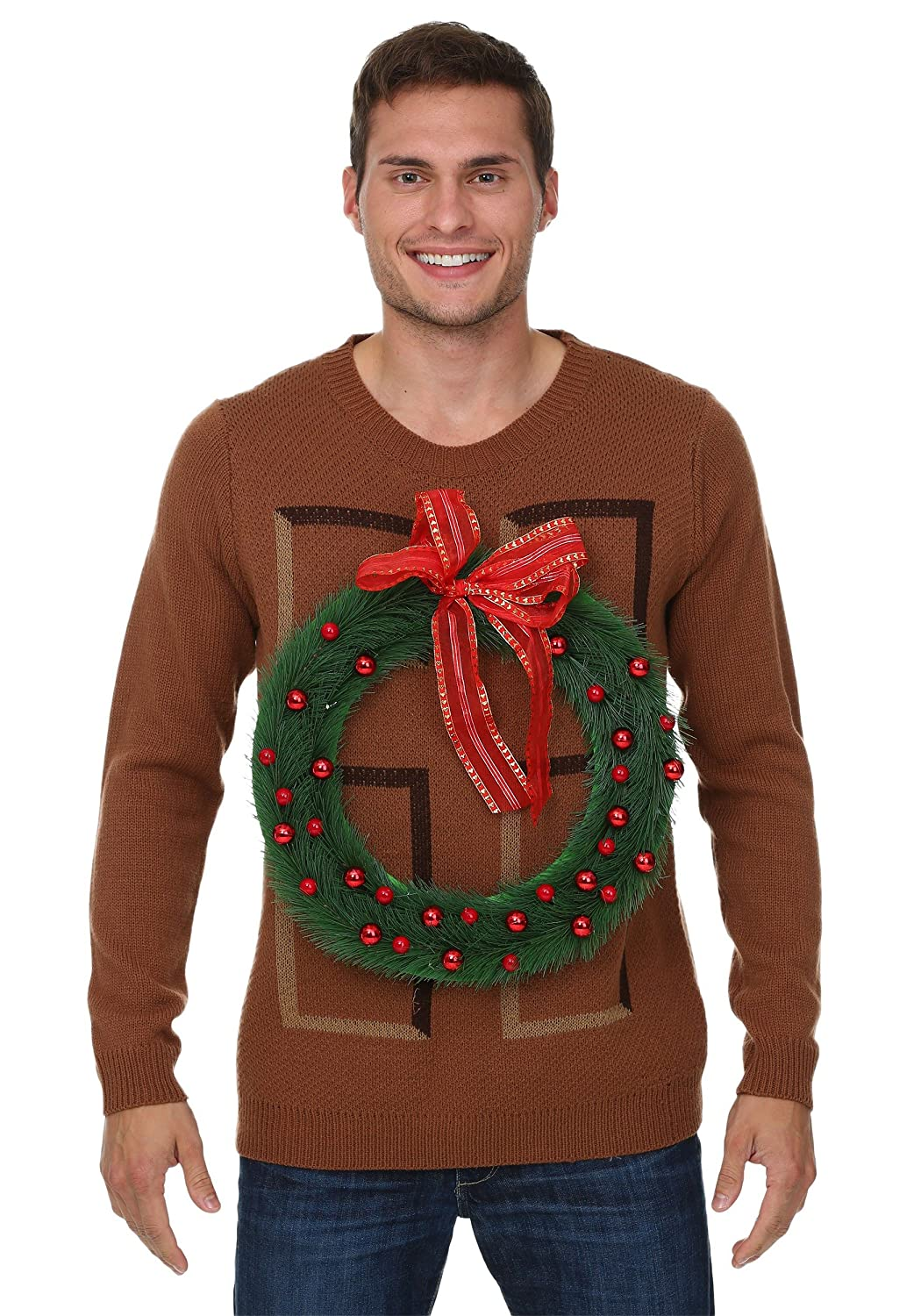 Fun Costumes Christmas Wreath Door Ugly Christmas Sweater Small