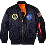 Alpha Industries 男孩美国航天局MA-1飞行夹克