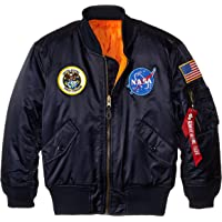 Alpha Industries Big Boys' NASA MA-1 Bomber Jacket, Blue