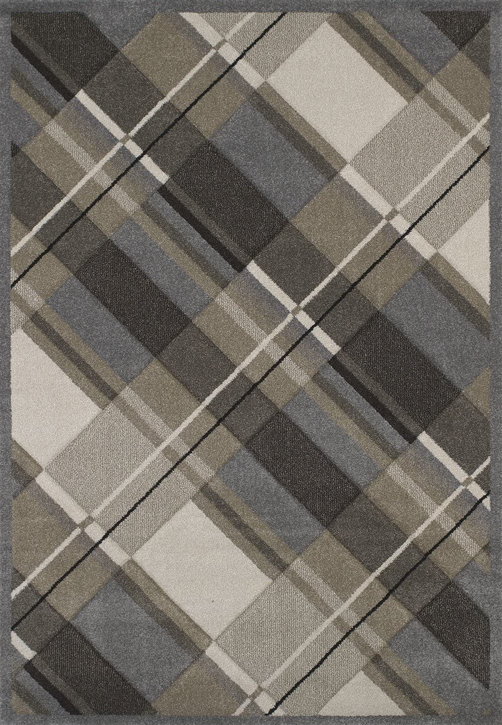 United Weavers of America Townshend Collection Journey Modern Area Rug, 7-Feet 10-Inch by 11-Feet 2-Inch, Grey