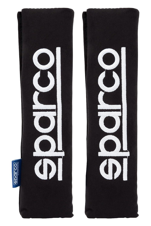 Set de 2 Sparco Progetto Corsa SPC1204BK Pad Spc Black Belt Noir