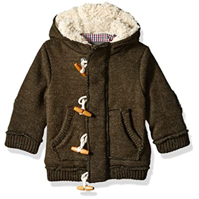 e8683e9ade7c2 Ben Sherman Baby Boys  Sweater Knit Fleece Hooded Jacket