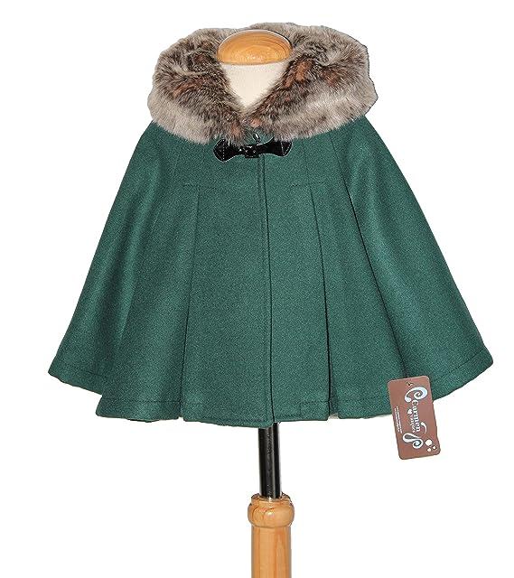 Ricittos - Capa Abrigo con Mangas de niña en Color Verde (2)