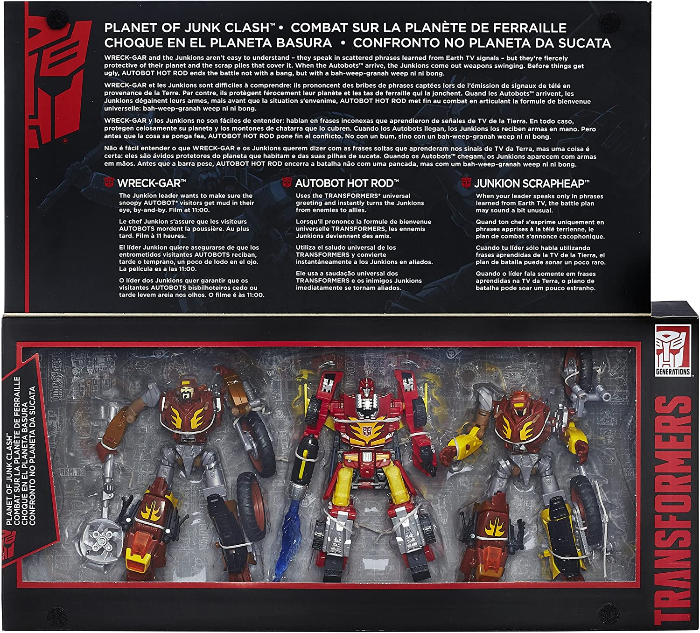 NEW Transformers Generations Platinum Edition Hot Rod Wreck Gar Planet of Junk
