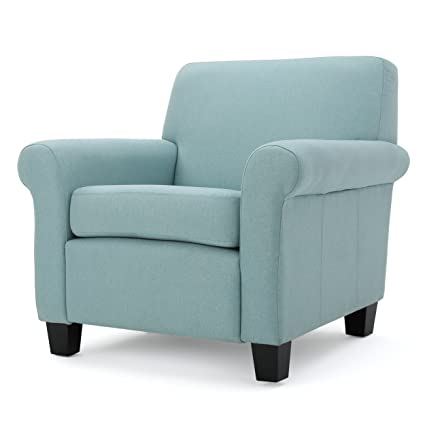 Pinehurst Light Blue Light Blue Fabric Club Chair