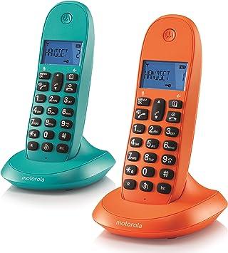 Motorola MOT31C1002NAAZ - Teléfono inalámbrico, Color Naranja y Azul: Amazon.es: Electrónica