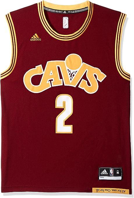 adidas Camiseta réplica de la NBA Cleveland Cavaliers Kyrie Irving #2 para Hombre