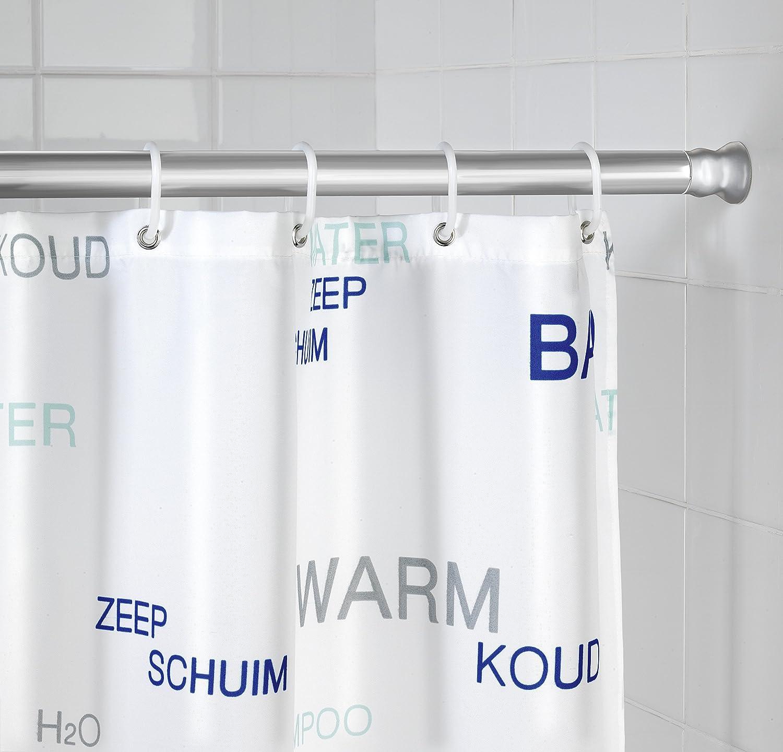Wenko Barra de cortina extensible de aluminio 2 cm