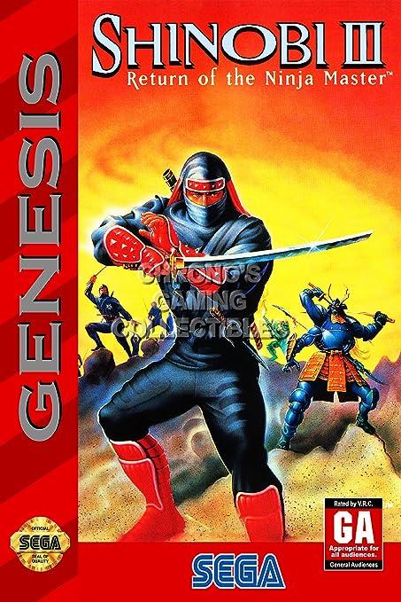 Amazon.com: Shinobi III CGC Huge Poster Glossy Finish Sega ...