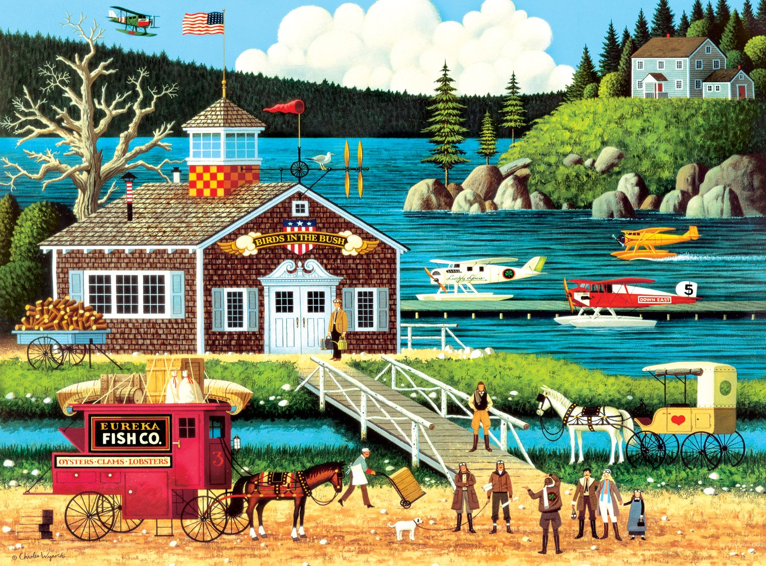 Buffalo Games Charles Wysocki  Birds of a Feather - 1000 Piece Jigsaw Puzzle by Buffalo Games by Buffalo Games