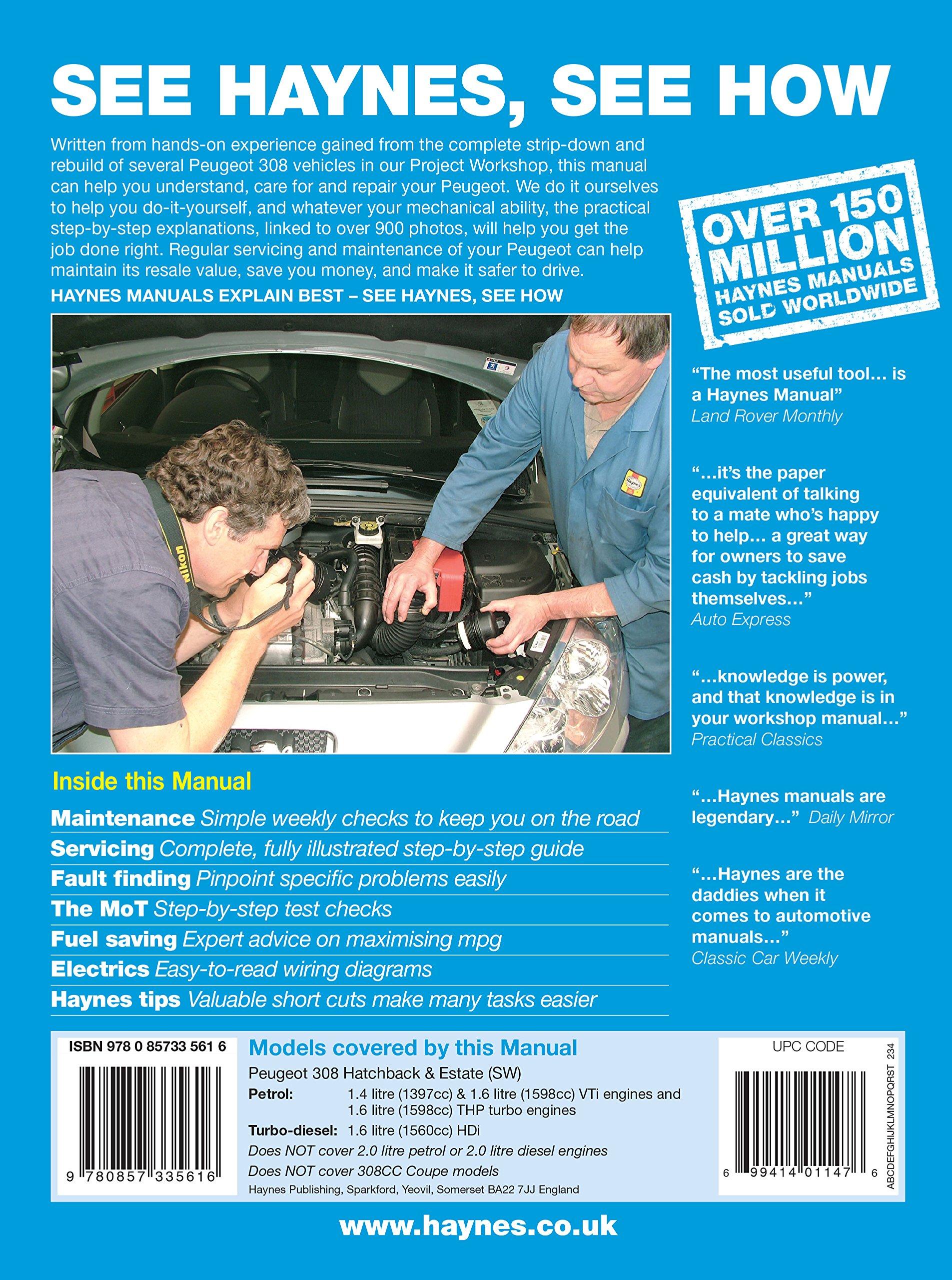 PEUGEOT 308 Petrol & Diesel 07-12: Haynes: 9781785214196: Amazon.com: Books