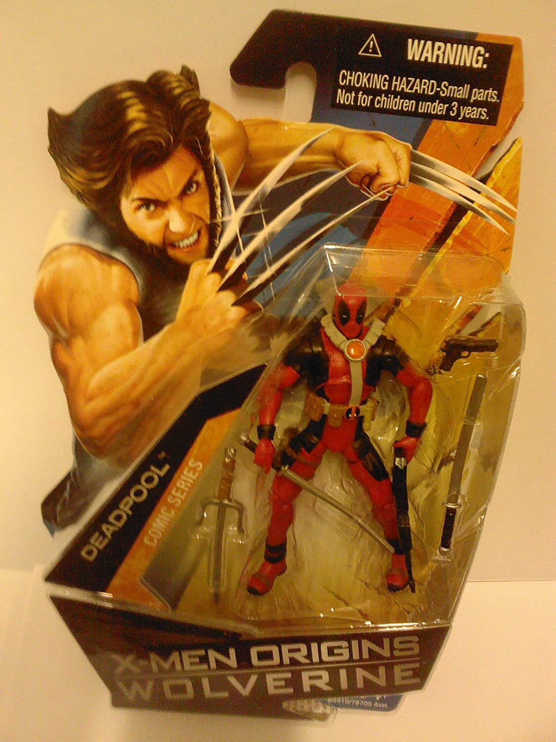 Hasbro X-Men Origins Wolverine Movie Series 3 3/4 Inch Action Figure Deadpool (No Shirt with Tatoos)