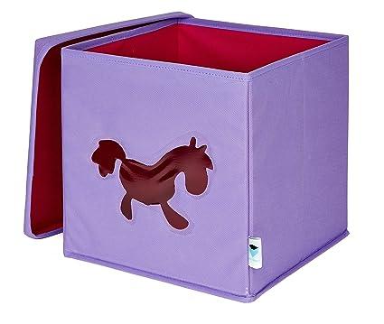IT 752002 - Caja para guardar juguetes (con ventanilla, diseño de poni