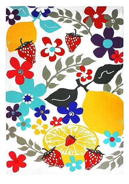 MUkitchen 100% Cotton Oversized Designer Kitchen Towel, 20 By 30 Inches,  Fruit