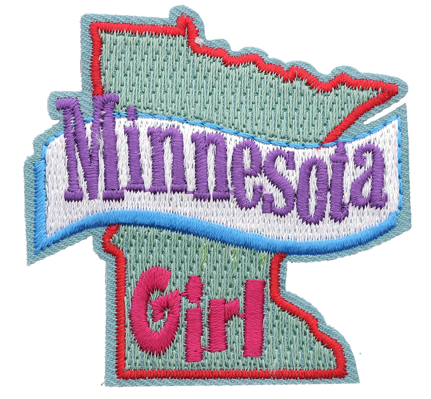 Minnesota Girl 2 inch small Iron on Patch Ava2395