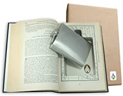 2. SneakyBooks Recycled Hollow Book Hidden Flask Diversion Safe
