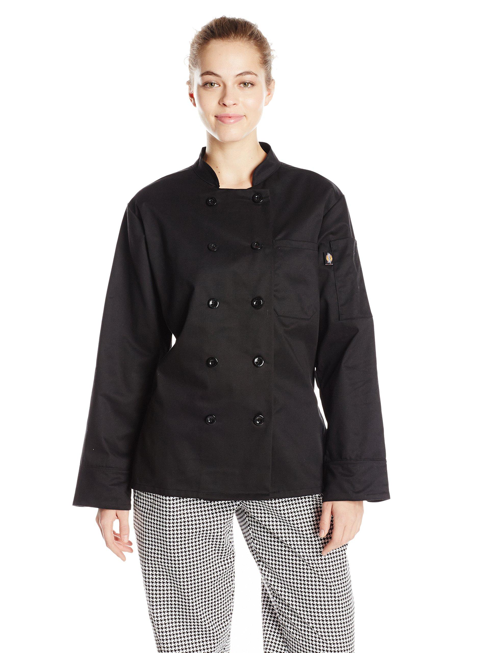 Dickies Chef Women's Bettina Coat, Black, Small