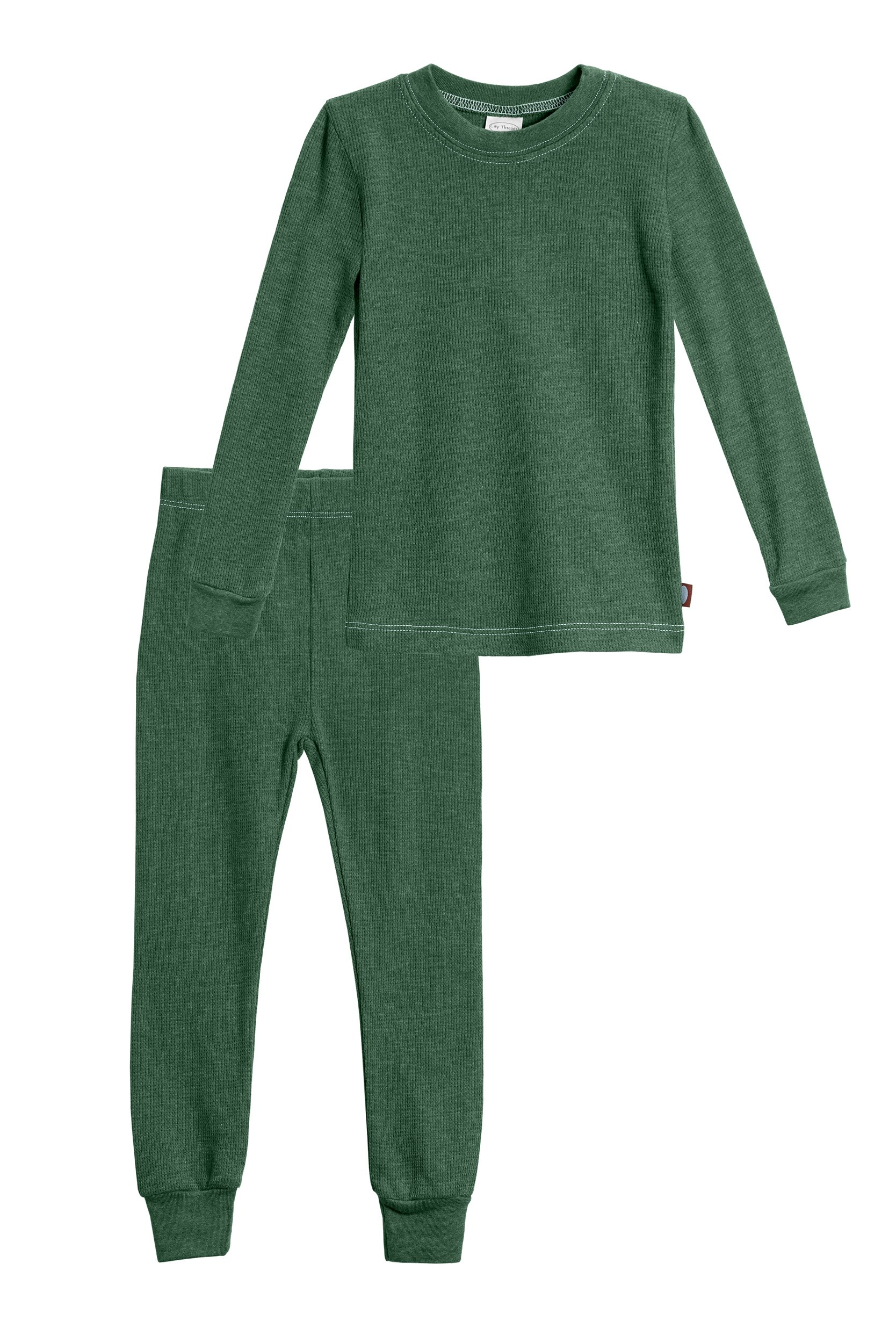 City Threads Big Boys Thermal Underwear Set Perfect For Sensitive Skin SPD Sensory Friendly, Forest Green- 14 by City Threads