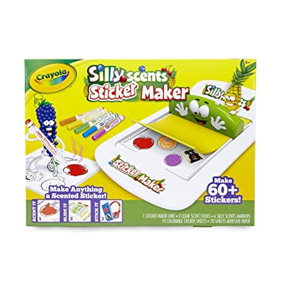 Crayola Silly Scents Sticker Maker, Gift for Kids, Ages 6, 7, 8, 9: Toys & Games