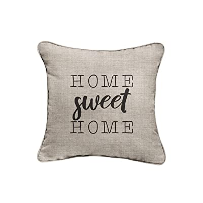 Mozaic Company AMZ011121SP Sweet Home Indoor/Outdoor Pillow, Cast Silver : Garden & Outdoor